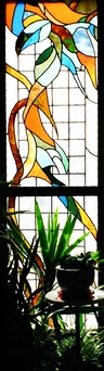 Arlington UU Stained Glass panel