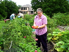 community gardening at community uu