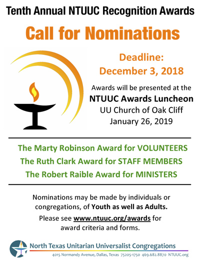 2019 Call for Nominations
