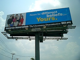 UUA Billboard in Dallas